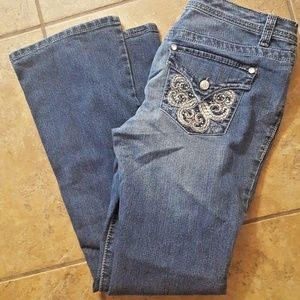 Nine West Bling Stretch Jeans Size 6/28